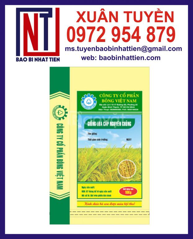 Chuyên cung cấp bao bì lúa giống 40kg