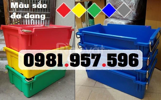 Thùng nhựa quai sắt, hộp nhựa A2, thùng nhựa A2