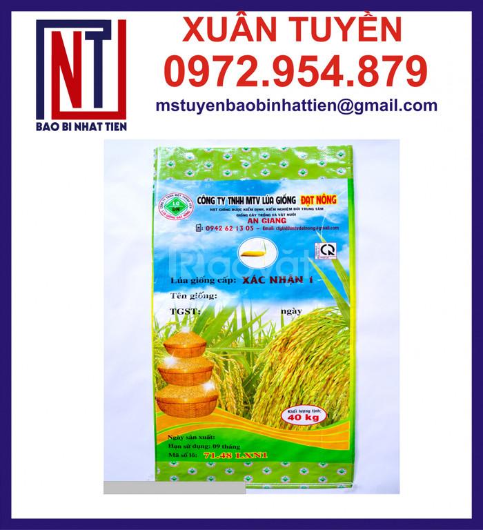 Bao bì lúa giống ghép màng, bao đựng lúa giống 40kg