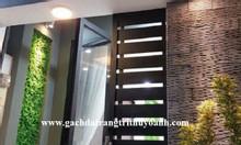 Trang trí nội thất bằng đá răng lược đen