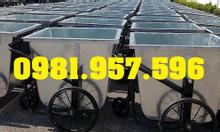 Xe rác công nghiệp, xe rác 400L, xe rác 500L, xe rác tôn có nắp