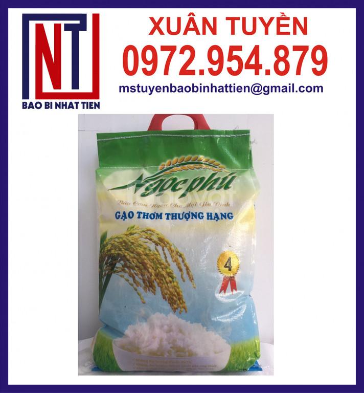 Túi gạo 5kg đục quai xách