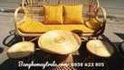 Bàn ghế mây tay cuộn, bàn ghế mây phòng khách (ảnh 8)
