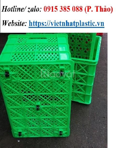 Sóng nhựa hở có 5 bánh xe - Sóng nhựa công nghiệp