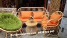 Bàn ghế mây tay cuộn, bàn ghế mây phòng khách (ảnh 4)