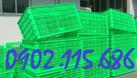 Sọt nhựa lớn kéo hàng, rổ nhựa lớn kéo hàng, sọt nhựa công nghiệp cỡ l (ảnh 7)