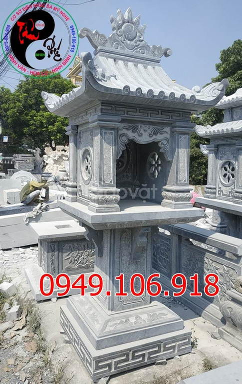 Miếu thờ thần linh đẹp bằng đá khối tự nhiên