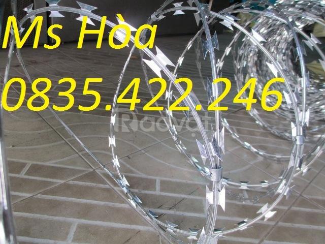 Giá dây kẽm gai, dây thép gai hình dao, lưới inox 304