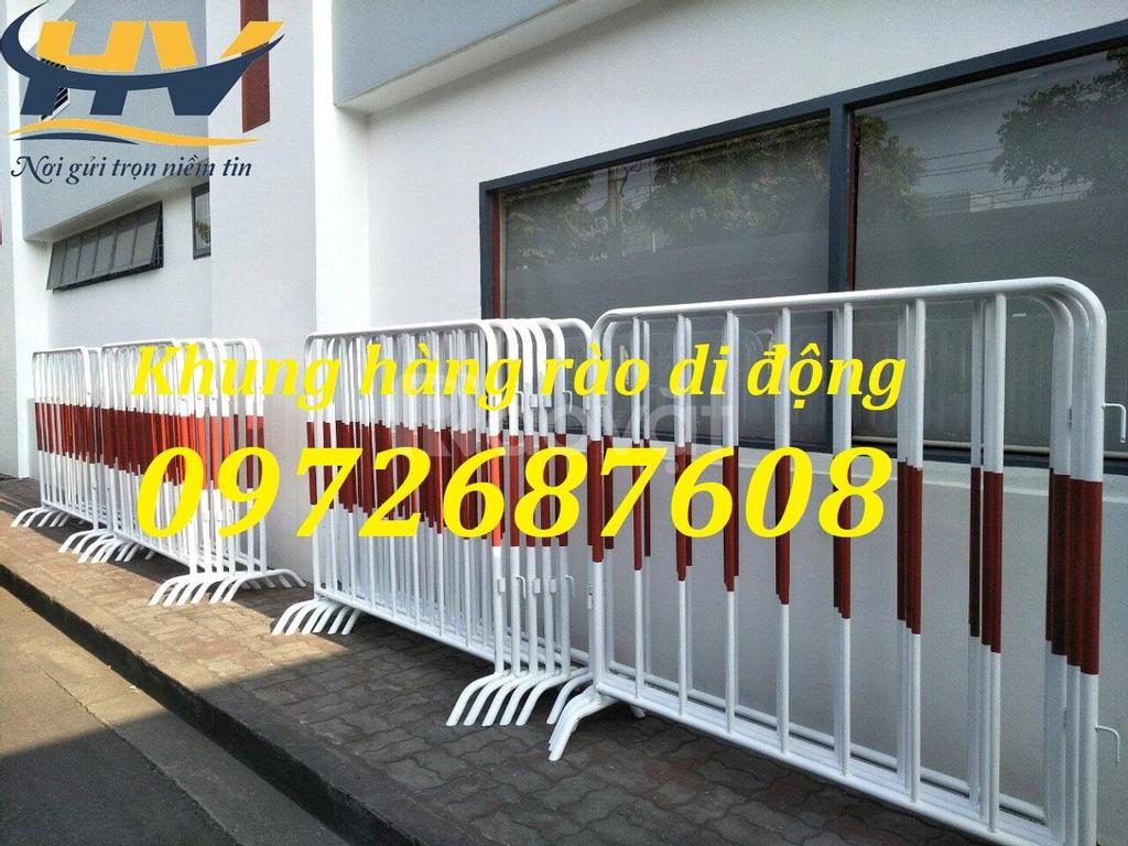 Hàng rào chắn di động, hàng rào di động có gắn bánh xe