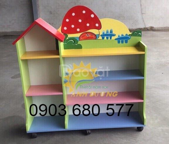 Nơi cung cấp kệ gỗ mầm non dành cho trẻ em giá rẻ, chất lượng cao