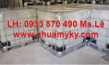Mua bồn nhựa ibc 1000L cũ giảm giá, thùng tank nhựa ibc 1000 lít đựng