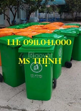 Thùng rác công cộng dung tích 120lit, 240lit