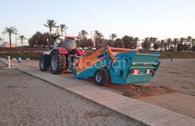 Máy làm sạch bãi biển, máy sàng cát bãi biển scarbat