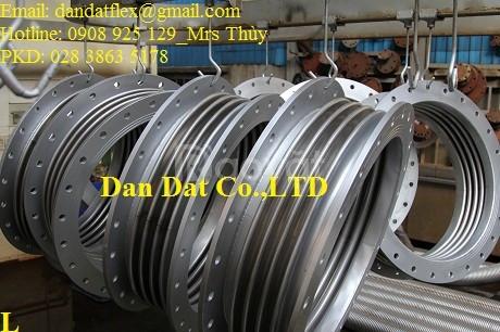 Bù giãn nở nhiệt inox, khớp nối giãn nở nhiệt DN457x0.6m, giãn nở inox (ảnh 1)