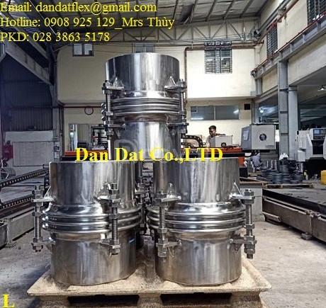 Bù giãn nở nhiệt inox, khớp nối giãn nở nhiệt DN457x0.6m, giãn nở inox (ảnh 5)