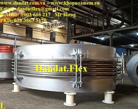 Bù giãn nở nhiệt inox, khớp nối giãn nở nhiệt DN457x0.6m, giãn nở inox (ảnh 6)