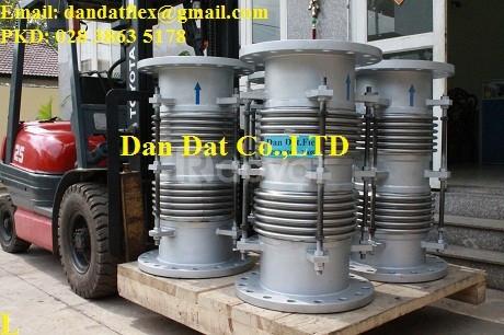Bù giãn nở nhiệt inox, khớp nối giãn nở nhiệt DN457x0.6m, giãn nở inox (ảnh 2)