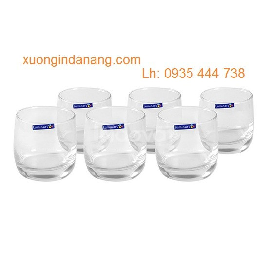 Xưởng in thủy tinh giá rẻ Quảng Nam, sản xuất bộ bình ly thủy tinh