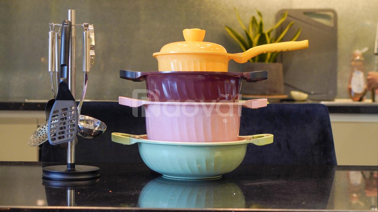 Bộ nồi kháng khuẩn ngũ hành may mắn - Happy Home Pro (ảnh 4)