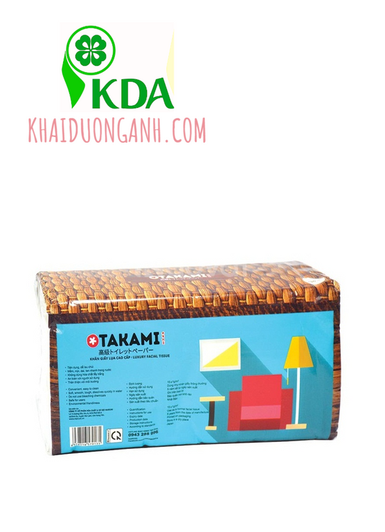 Khăn giấy lụa dài Otakami 250 tờ, khăn giấy lụa chữ nhật giá tốt miền