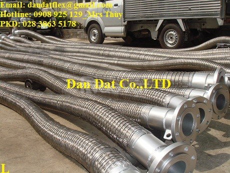 Khớp nối mềm inox dẫn xăng dầu, ống mềm xăng dầu, ống dẫn xăng dầu