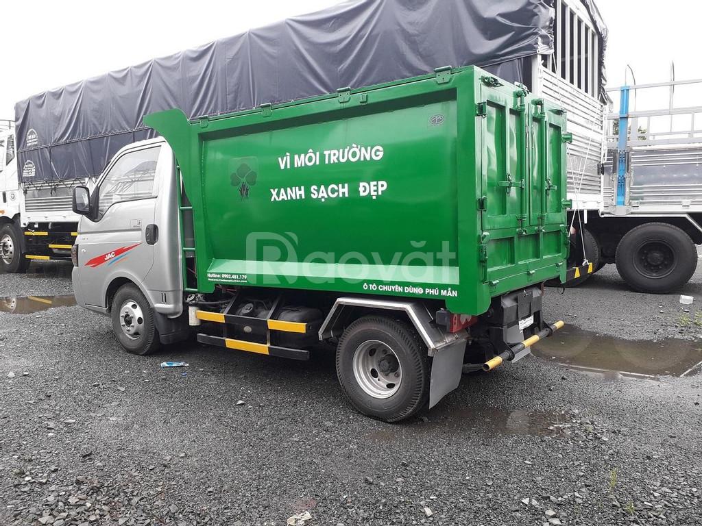 Xe tải ép rác 3,5 khối , xe tải jac ép rác giá rẻ.