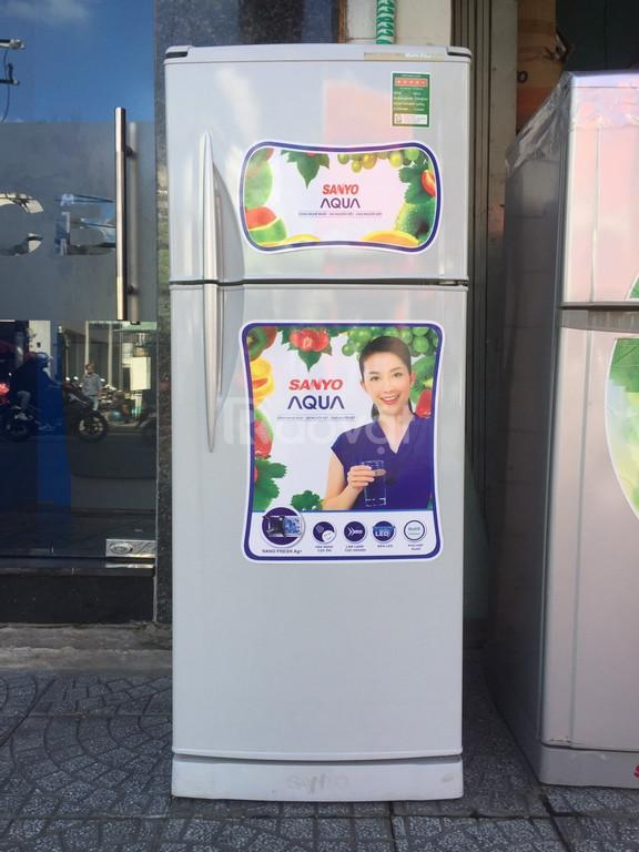 Tủ lạnh Sanyo Aqua 200 lít, tủ không bám tuyết (ảnh 1)