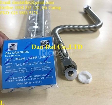 Dây cấp nước mềm inox, ống dẫn nước inox, ống mềm dẫn nước nóng lạnh (ảnh 7)