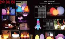 Bàn led ghế led nhiều màu phát sáng, led table