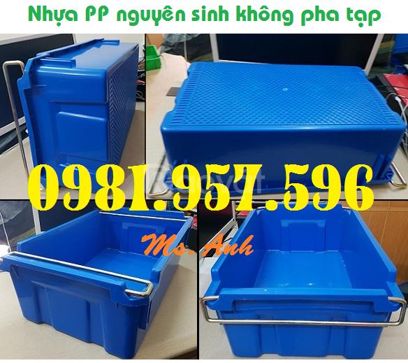 Thùng có quai sắt, hộp nhựa đựng dụng cụ, thùng nhựa linh kiện