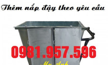 Xe đẩy rác 400L, xe đẩy rác 500L, xe rác tôn