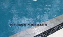 Sỏi đen bóng trang trí hồ bơi
