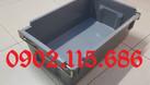 Thùng nhựa A2 màu ghi, hộp nhựa A2 màu ghi (ảnh 4)