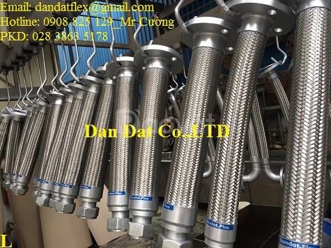 Ống nối mềm chịu nhiệt, khớp nối mềm inox, ống chống rung mặt bích (ảnh 7)