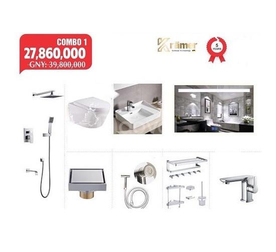 Combo khuyến mại thiết bị vệ sinh kramer số 1