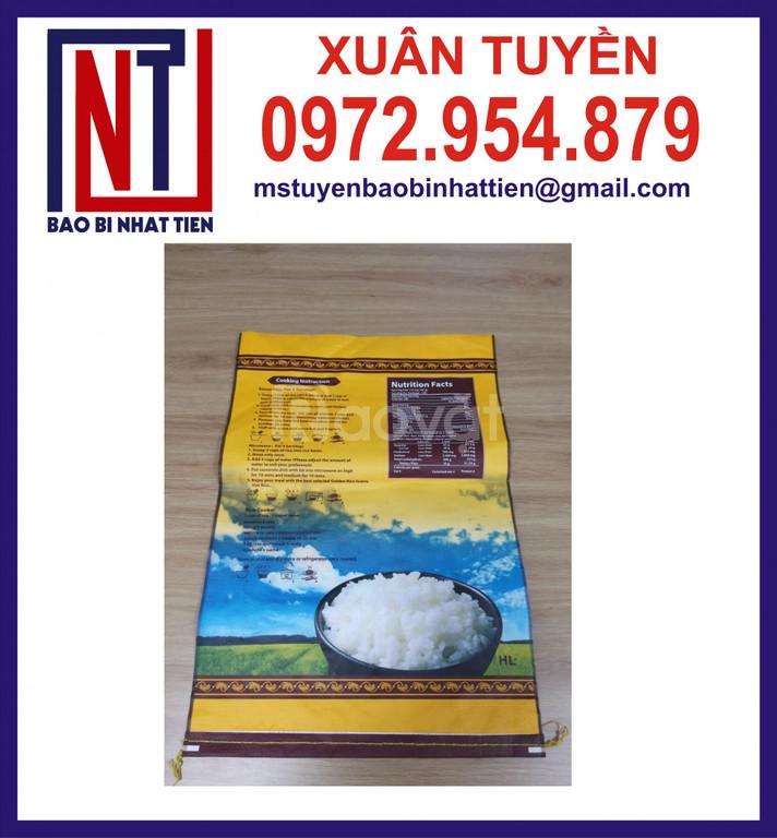 Bao bì gạo 10kg, bao PP dệt ghép màng (ảnh 8)