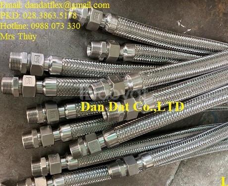 Dây nối mềm inox chịu nhiệt, ống nối mềm inox, ống chống rung inox 304 (ảnh 7)