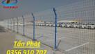 Hàng rào lưới thép mạ kẽm, hàng rào kho, hàng rào sơn tĩnh điện D5 (ảnh 6)