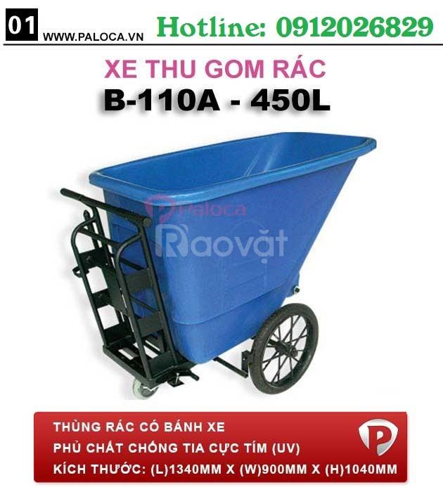 Địa chỉ mua xe đẩy rác bằng tay ở đâu giá tốt TP.HCM