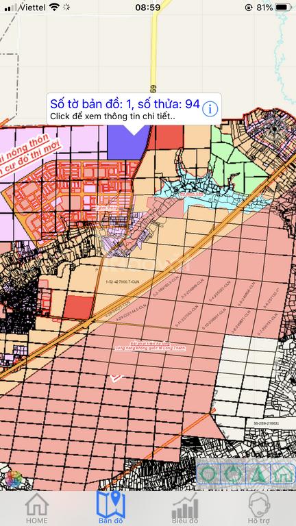 Đất sổ đỏ đường DT769, Long Thành, cách sân bay quốc tế 2km