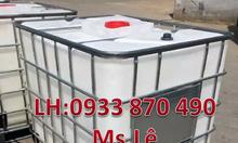 Tank vuông ibc 1000l đựng hóa chất, bồn ibc 1000l đựng thực phẩm TPHCM