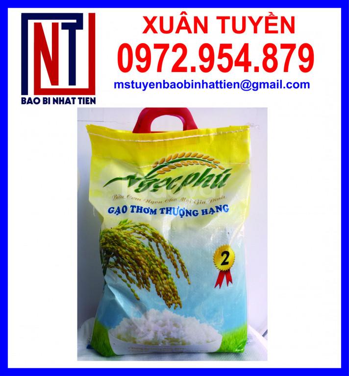 Bao bì gạo 10kg, bao PP dệt ghép màng (ảnh 5)