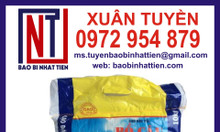 Bao bì gạo 10kg, bao PP dệt ghép màng