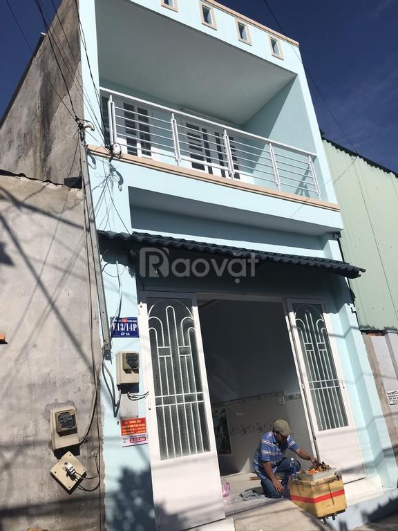 Nhà mới hoàn thiện 1 trệt 1 lầu đường Thới Hoà, Bình Chánh, 1tỷ 350tr