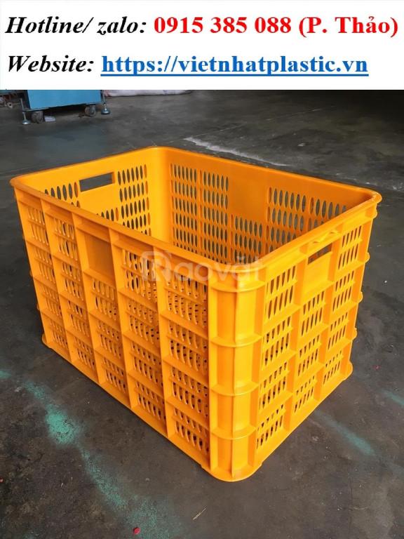 Sọt nhựa đựng cam lớn hình chữ nhật