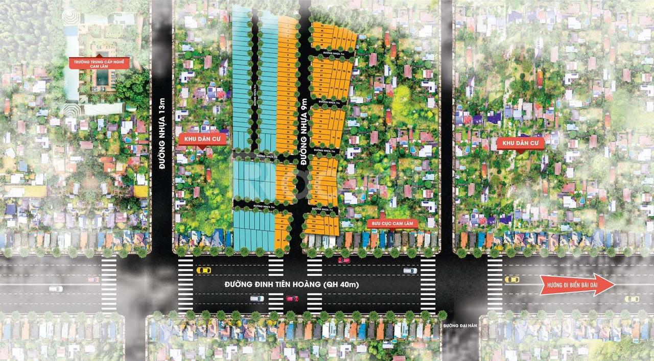 Đất sổ đỏ Đinh Tiên Hoàng, Cam Lâm