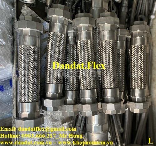 Khớp nối mềm inox nối ren/lắp ren, ống nối mềm, khớp chống rung inox