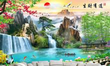 Gạch tranh phong cảnh, tranh phòng khách HP7173