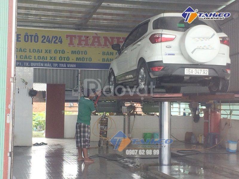 Cầu nâng 1 trụ rửa xe ô tô nhâp khẩu SHARK tại Bình Thuận (ảnh 5)