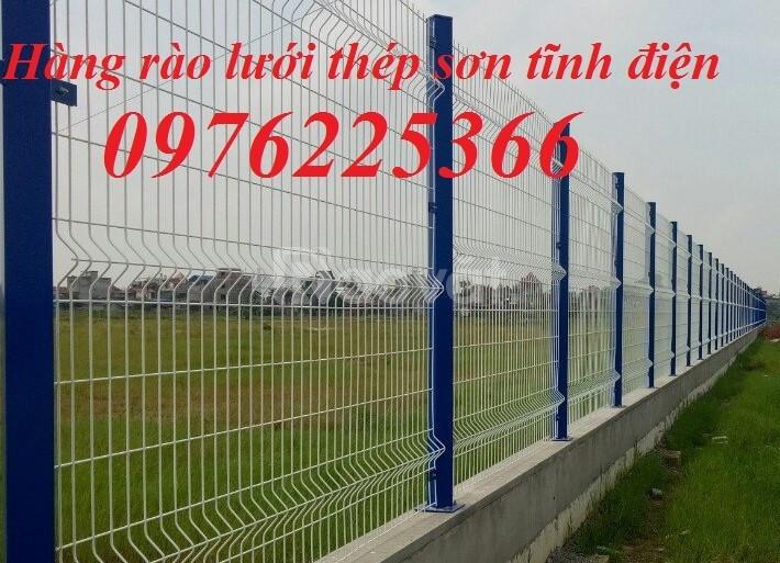 Hàng rào thép, hàng rào lưới thép hàn mạ kẽm sơn tĩnh điện (ảnh 8)